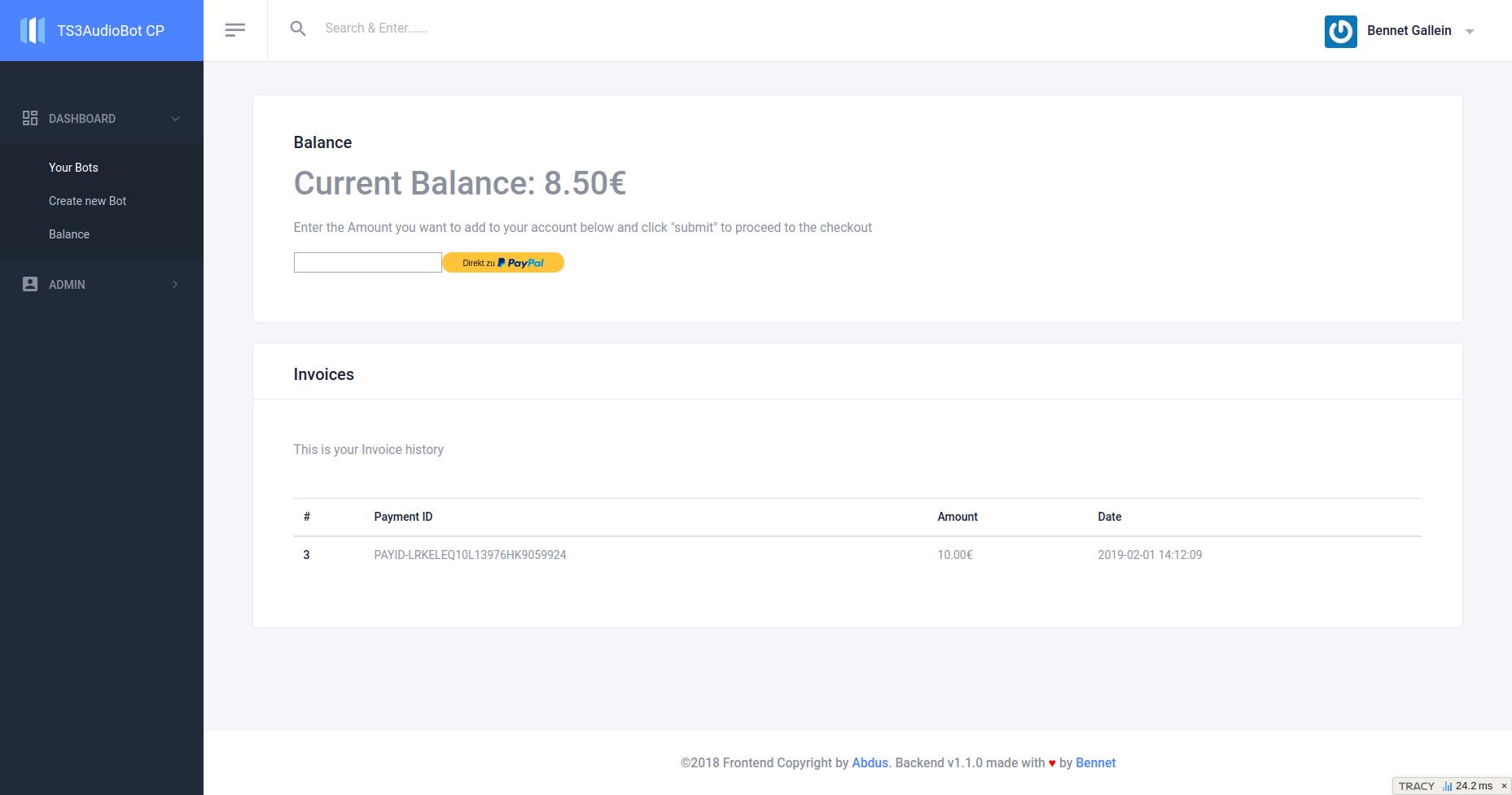 Balance Manager